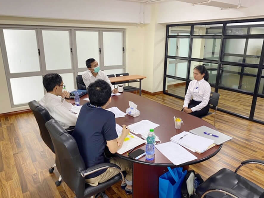 ミャンマー人介護技能実習生の面接の同行をしま…