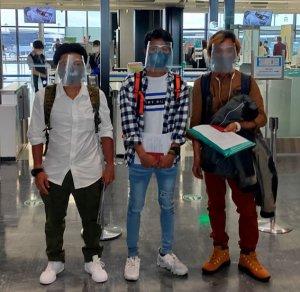 ミャンマー大使館の手配した救援便に乗り、ミャンマー人技能実…